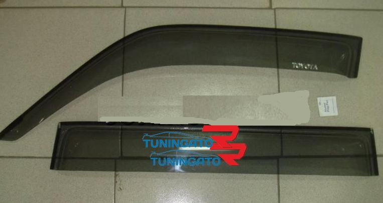 Ветровики дверные (дымчатые) LAND CRUISER PRADO (96-01)