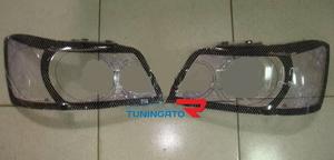 Очки на фары (шелкография черная) TOYOTA KLUGER V (00-UP)