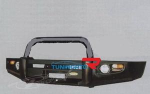 Бампер передний металлический HD07-NS-A050-1B LAND CRUISER PRADO
