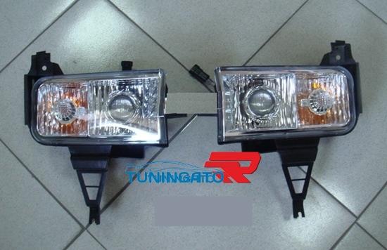 Противотуманные фары с линзой и поворотником для LAND CRUISER 200 (07-)
