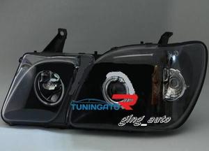 Фары (Тюнинг черные) для TOYOTA LAND CRUISER CYGNUS / LEXUS LX470
