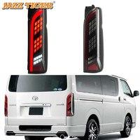 Стоп-сигналы (светодиодные) черные  для Toyota Hiace 05-14г.