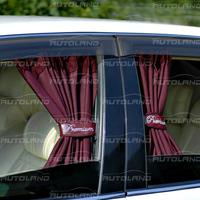 Автомобильные шторы «Premium» Бордовый