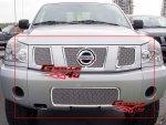 Комплект решеток 4 части, хром, для Nissan Titan 04-07