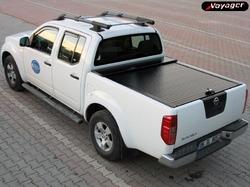 """Алюминиевая крышка """"ROLL-ON"""" электростатическая для Nissan NP300 DOUBLE"""" и """"PROGUARD"""