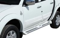 "Комплект алюминиевых порогов ""ANATOLIA DIAMOND"" для Mitsubishi L200/Triton с подсветкой"