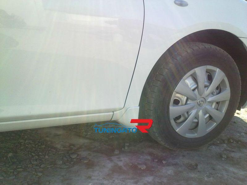 Брызгавики на кузов, комплект 4шт., пластик, под покраску, Тайвань для Corolla Axio 2006-