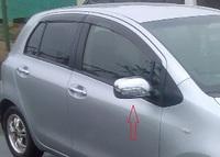 Хромированные накладки на зеркала с поворотниками для TOYOTA VITZ 2005-10г