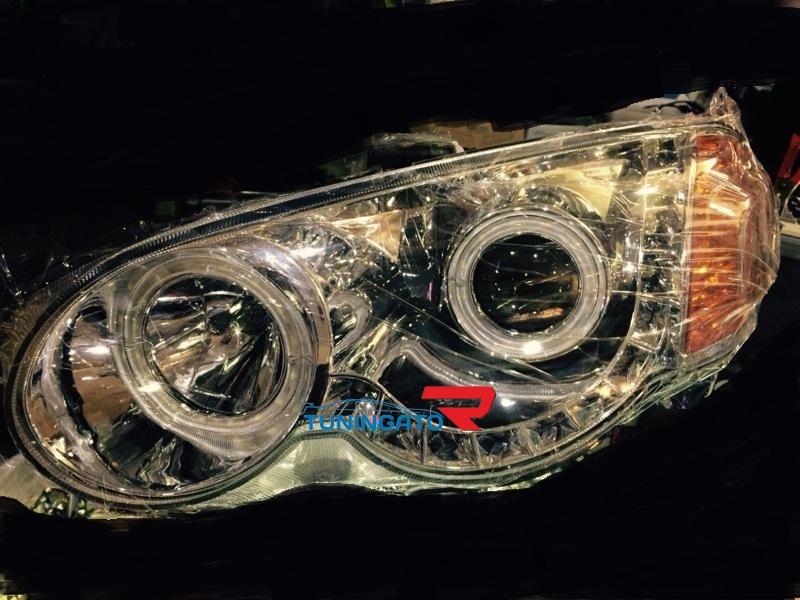 Фары ангельские глазки хром для Honda HR-V