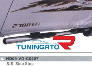 Боковые пороги (подножки) HD09-VO-C0207 для TOYOTA HILUX / VIGO