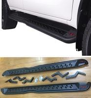 Подножки TRD (пороги) металл для Toyota Hilux REVO 2015+