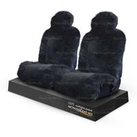 Накидки на сиденья из натурального меха «AUTOTREND Prestigh» черные