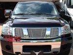 Комплект решеток 3шт. хром горизонтальные полосы, для Nissan Armada Nissan Titan 04-10