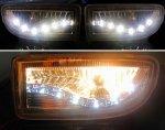 Противотуманные фары в бампер светодиодные Тип2 TLC100 LAND CRUISER 100