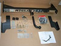 "Фаркоп с хромом и логотипом "" Nissan Patrol"""
