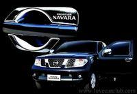 Хромированные накладки под дверные ручки именные, США, для Nissan Navara \ Pathfinder 2005-