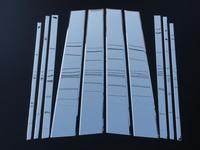 Хромированные накладки на дверные стойки FJ120-N0902 LEXUS GX470