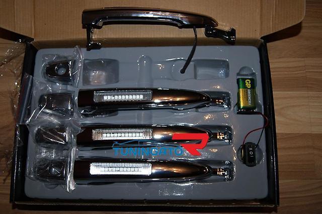 Хромированные ручки с подсветкой для Toyota Probox \ Succeed