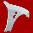 Тюнинговые пластиковые крылья , из стеклопластика FRP. (20mm широкий / twin воздуховод) для TOYOTA MARK2 100 (96-01)