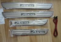 Накладки на пороги с подсветкой Toyota Axio 2006-2010г.
