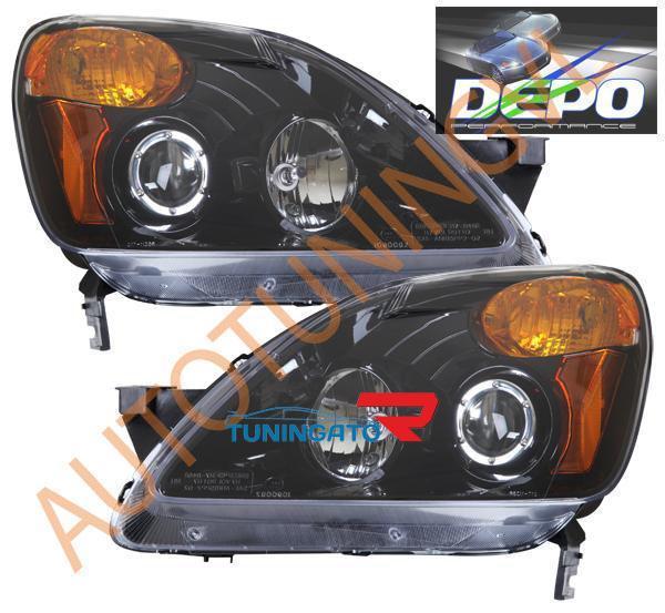 Фара черные тюнинг Honda CR-V 04-06г.