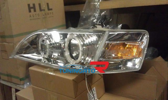Фары ангельские глазки хром для Toyota Cresta 96-01г.