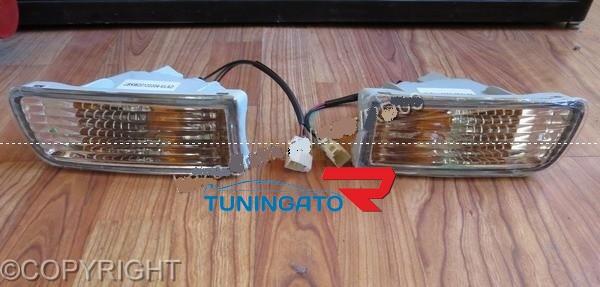 Поворотники в бампер хрустальные для TOYOTA HILUX SURF / 4 RUNNER