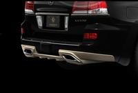 Накладка (обвес) на задний бампер Goldman для Lexus LX570 2012+