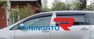 Ветровеки на двери для Toyota Wish 2009-