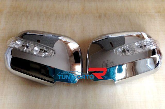 Хромированные накладки на зеркала TOYOTA KLUGER / HIGHLANDER (2000-2007)