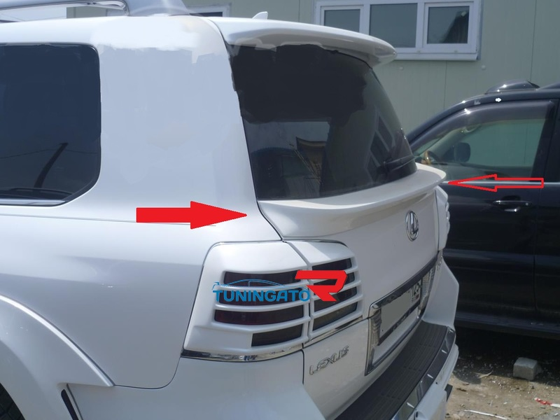 Спойлер для Lexus LX570 2012