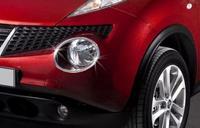 Хромированные накладки на фары для Nissan Juke