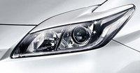 Реснички на фары для Toyota Prius 2009-12г.