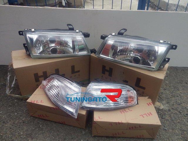 Хрустальные фары (оптика) для Toyota Carina 92-96г