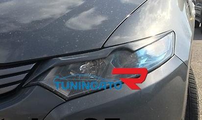 Реснички ( накладки на фары) для Honda Insight 08-
