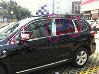 Хром накладки на стойки дверей для Subaru Forester SJ (2013-)