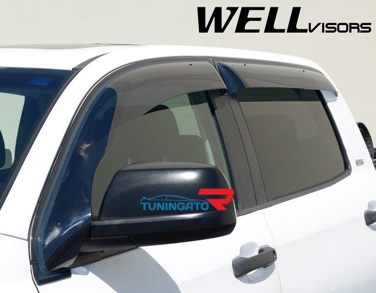 Дефлекторы боковых окон (ветровики) OffRoad для Toyota Tundra Crew Max 07-17