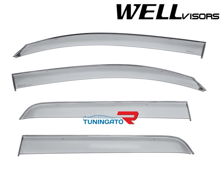 Дефлекторы боковых окон (ветровики) для Toyota Sequoia 08-16