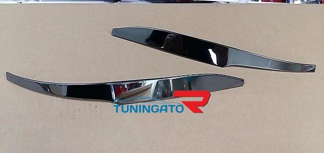 Хром накладки на зеркала Modellista для Toyota Harrier 2014+