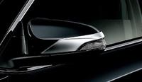 Хром накладки на зеркала для Toyota Aqua