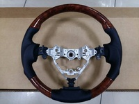 Руль Sport Design под дерево для Toyota Camry 50 12-17г.