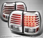Стоп сигналы тюнинговые Lexus LX 470 Фонари диодные хром