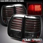 Стоп сигналы тюненговые Lexus LX 470 Фонари диодные черные