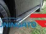 Nissan Partol 2010 Защита порогов 42 мм полир. нерж. сталь