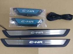 Накладки на порожки с подсветкой для Toyota C-HR