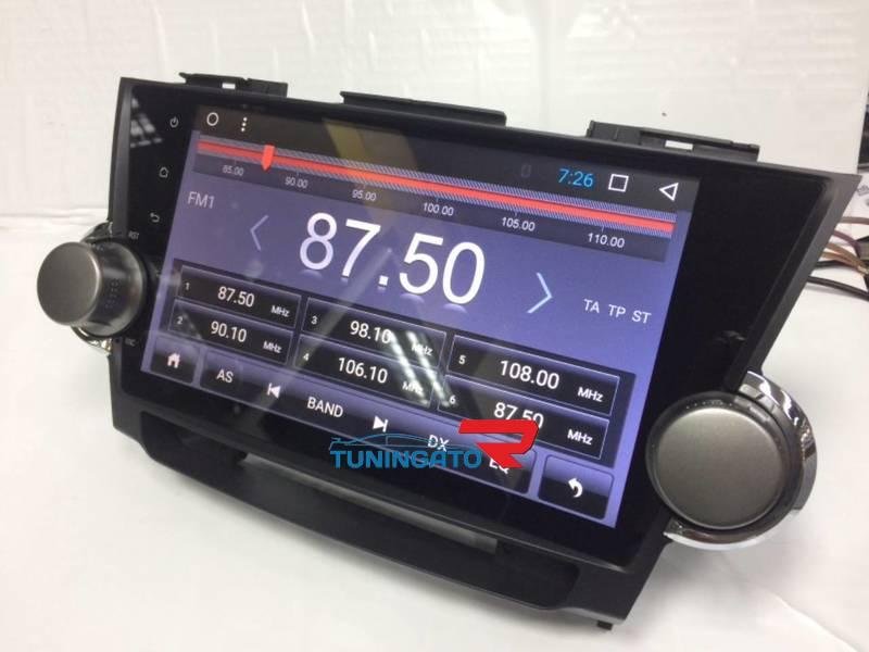 Штатная магнитола Toyota Highlander 2007 - 2014 Android 6.0