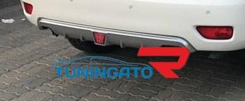 Накладка на задний бампер с стопом-сигналом для Nissan Patrol 62