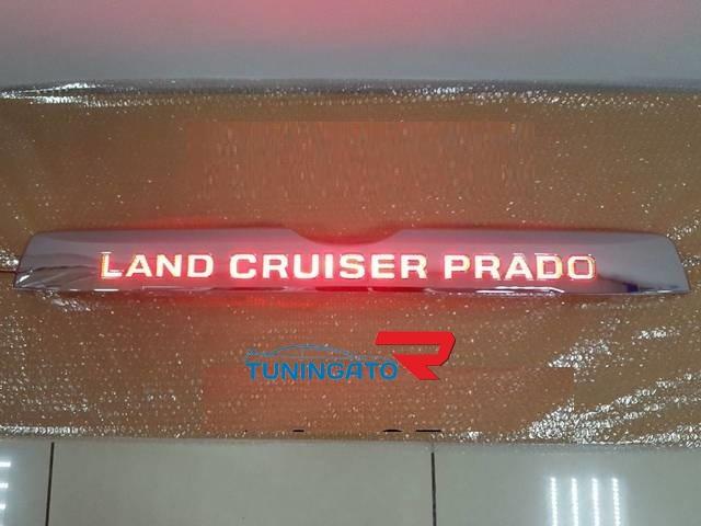 Накладка задней двери с подсветкой надписи для Prado 150 2018+