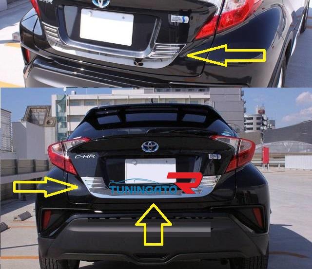 Хром накладка на заднюю дверь под номер Toyota C-HR