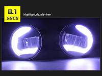 Туманки в бампер диодные с LED для Toyota Camry 2017-2019